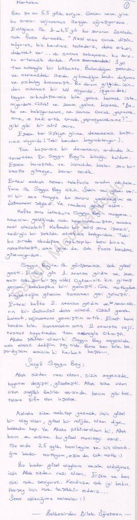 Vajinismus ve vajinismus tedavisi Bursa - Dilek Öğretmen