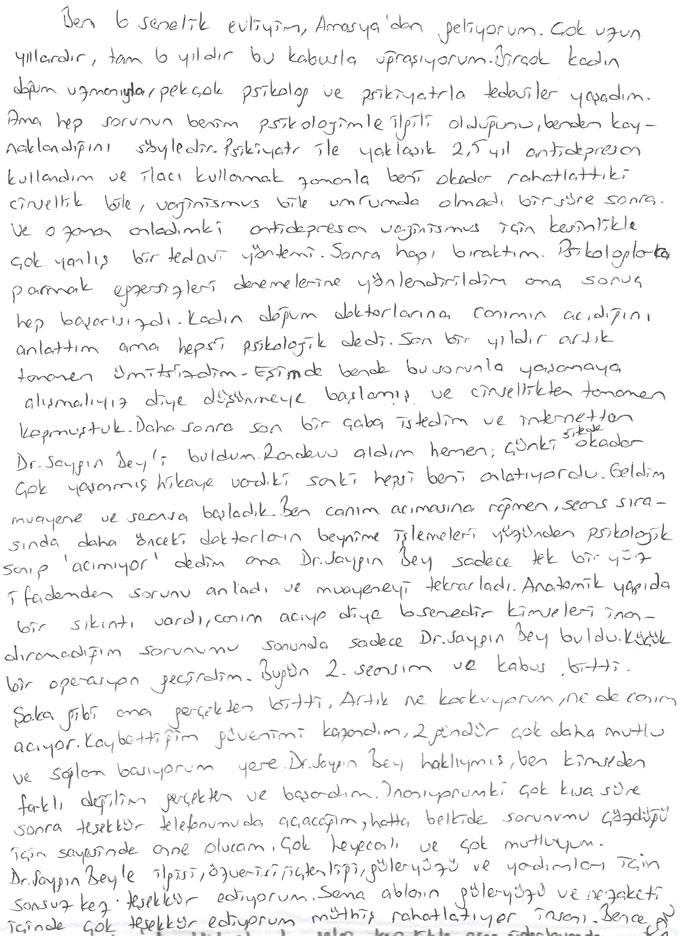 Sevcan Amasya vajinismus